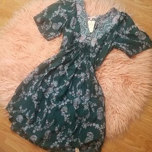 Rebecca Taylor silk v neck dress